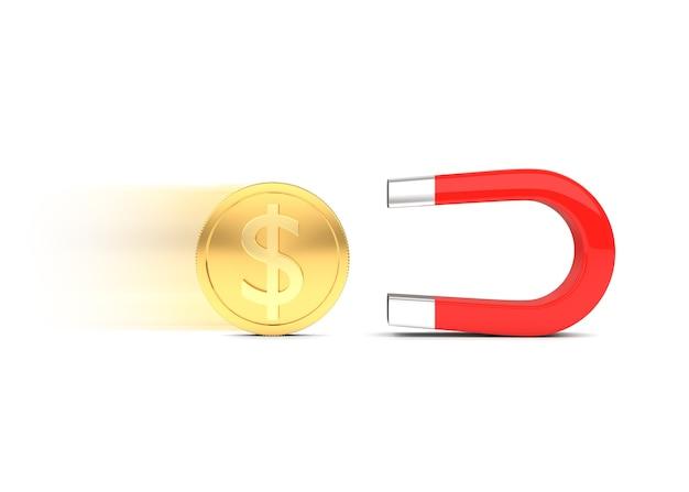 Magnet mit münze
