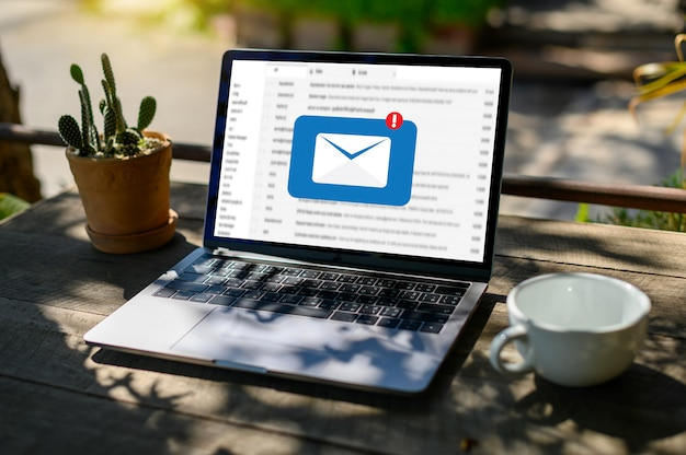Mail communication connection-nachricht