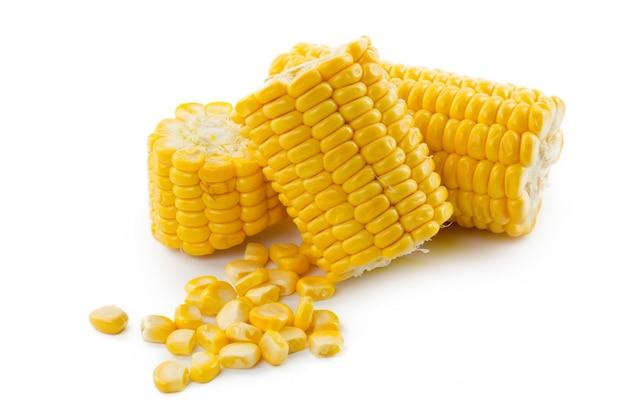 Mais auf einem weißen
