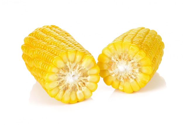 Mais getrennt auf einem weißen hintergrund