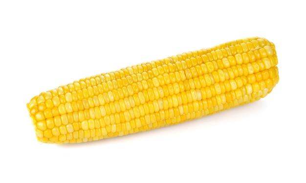 Mais getrennt auf weißem hintergrund