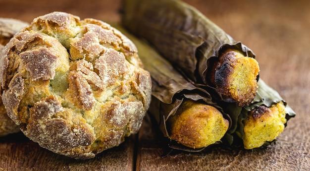 Maisbrot, kleiner keks oder brasilianisches maisbrot