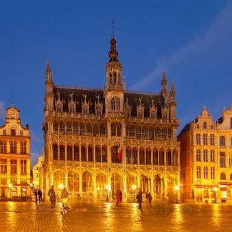 Maison du roi bei nacht, brüssel, belgien