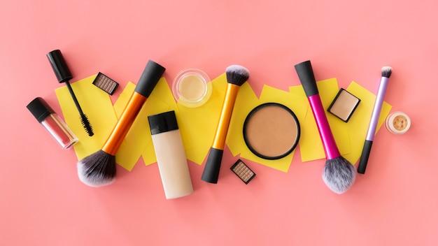 Make-up beauty-produkte ausgerichtet
