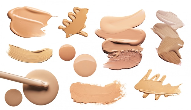 Make-up creme foundation isoliert auf weiß