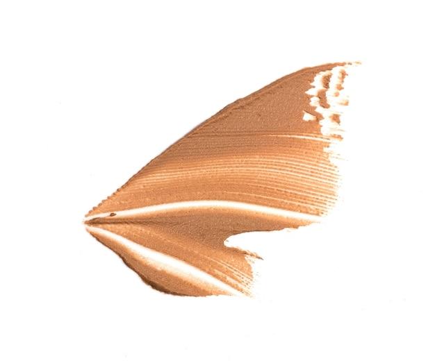 Make-up foundation swatch-abstrich auf weiß isoliert