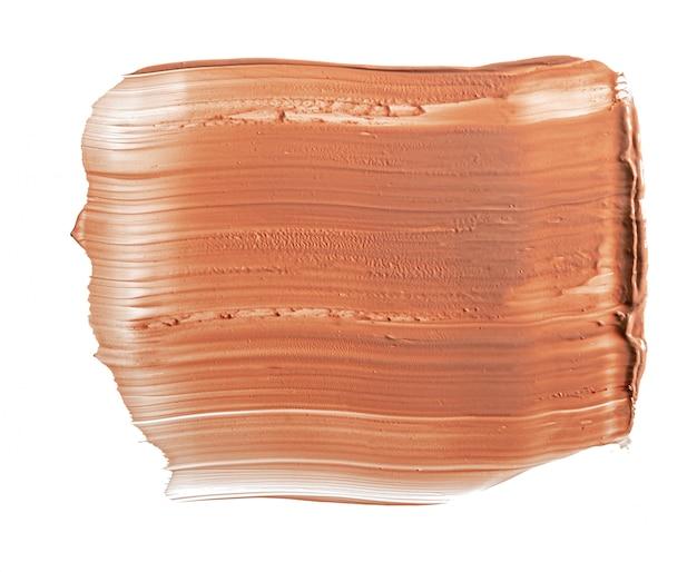 Make-up foundation swatch lokalisiert auf weißem hintergrund