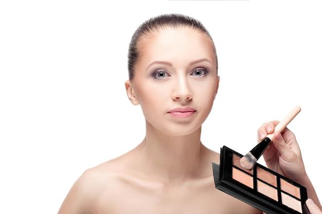 Make-up für brünette