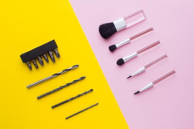 Make-up pinsel und bohrer