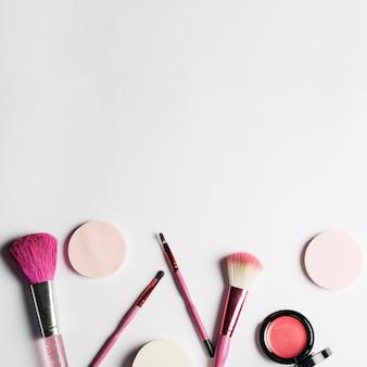 Make up set und platz auf der oberseite