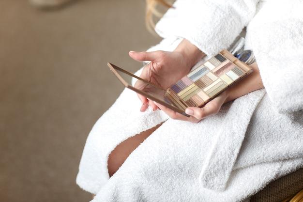 Make-upbürsten, nahaufnahme