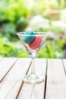Makkaron auf glas