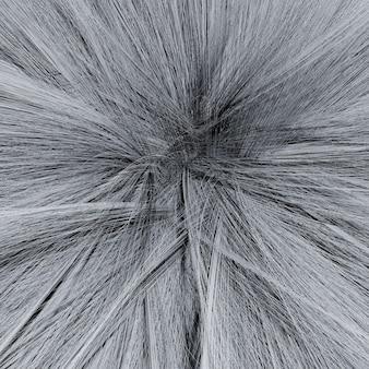 Makro 3d illustration des grauen flauschigen ball-textur-hintergrunds oder des musters