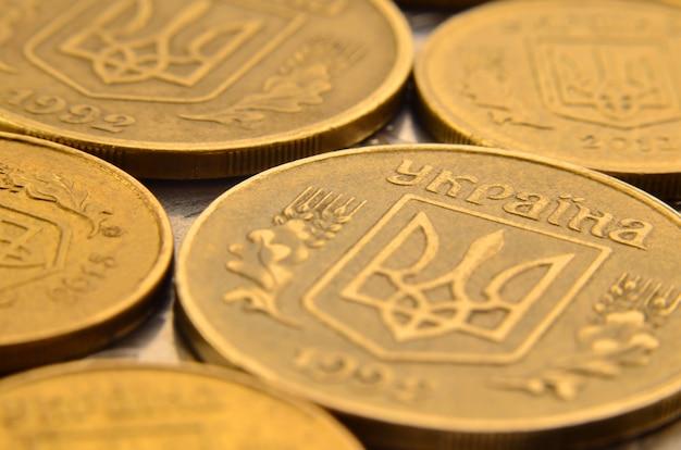 Makro der ukrainischen münzen