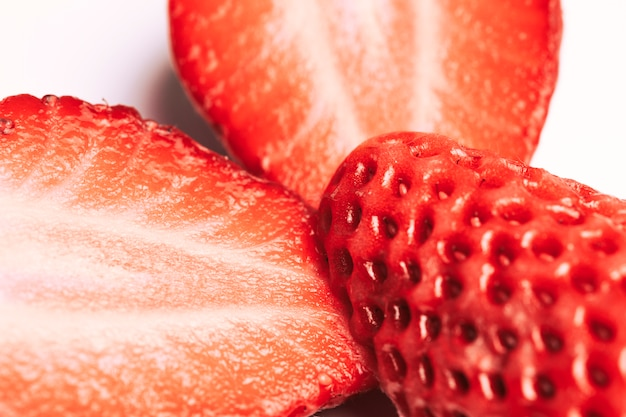 Makro erdbeer textur