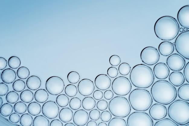 Makro nah oben von den seifenblasen schauen wie wissenschaftliches bild der zell- und zellmembran