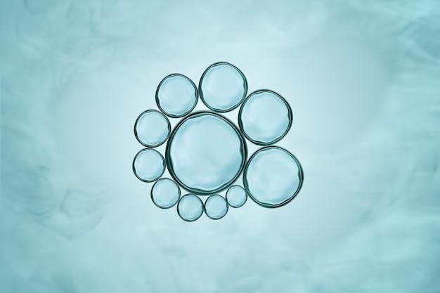 Makro nah oben von den seifenblasen schauen wie wissenschaftliches bild der zellmembran