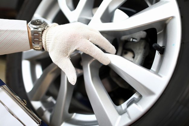 Makroaufnahme der automobilkomponente
