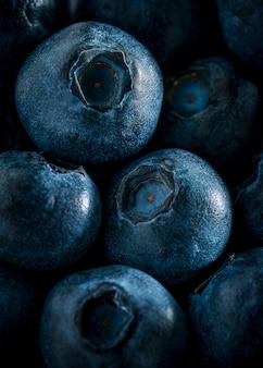 Makrobild des blaubeermusterhintergrundes