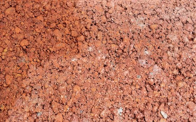 Makrobildmusterstruktur des alten roten braunen backsteinbodens. pflastertextur für hintergrund