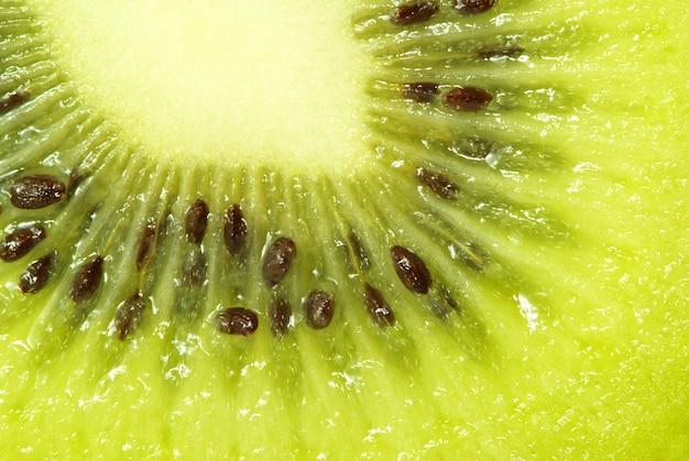Makrofoto einer frischen kiwi