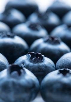 Makroschuß des blaubeerhintergrundes