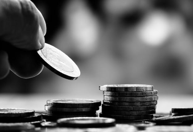Makroschuß des finanzkonzeptes