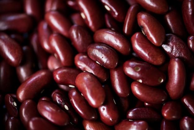 Makroschuß von roten gartenbohnen