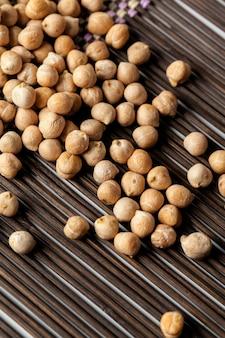 Makroschuß von sojabohnen