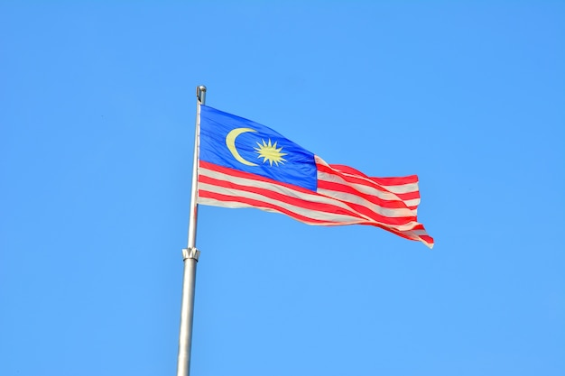 Malaysias nationalflagge auch bekannt als jalur gemilang