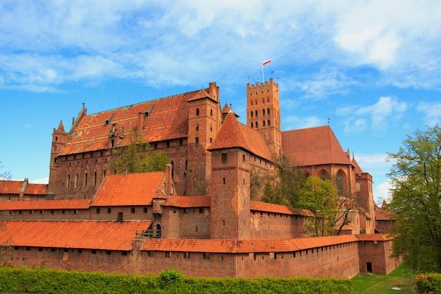 Malbork schloss in der pommernregion von polen.