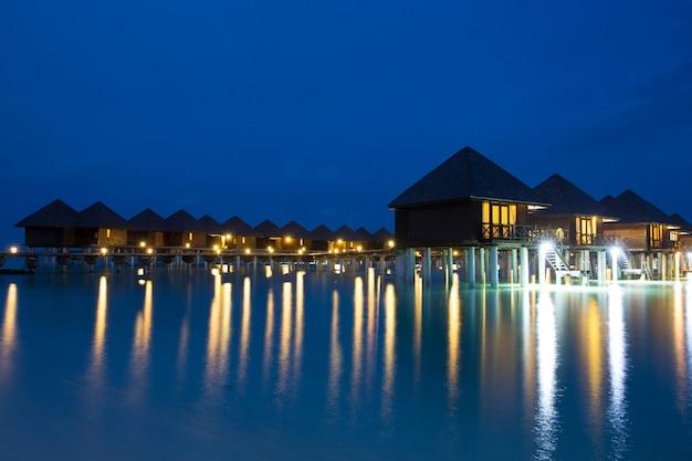 Malediven nachtszene
