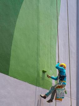 Maler, die äußeres des gebäudes malen