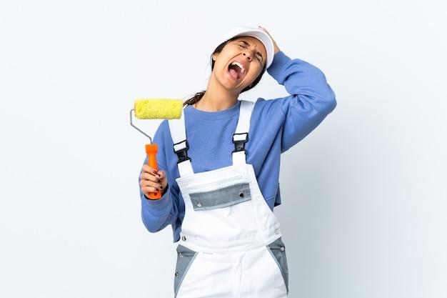 Malerfrau isoliert gestresst überfordert