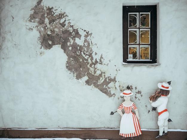 Malerische straße mit bunten häusern in der altstadt