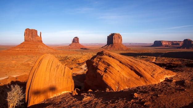 Malerischer blick auf das monument valley