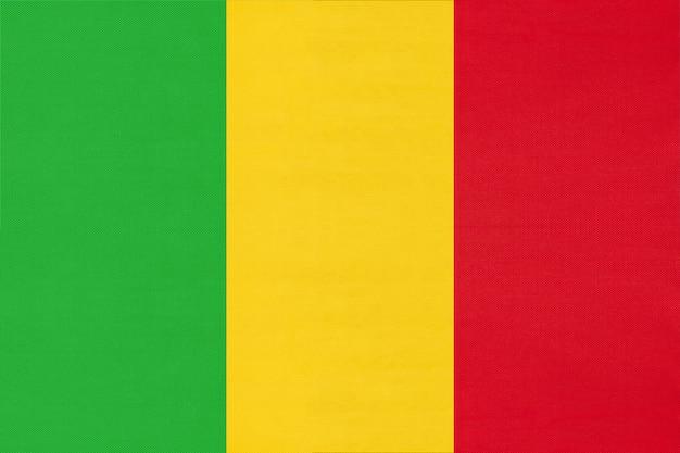 Mali national stoff flagge