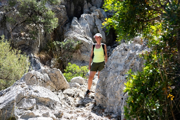 Mallorca insel. überqueren sie die schlucht