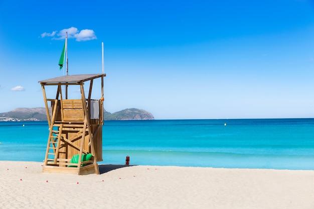 Mallorca kann picafort-strand in alcudia-bucht majorca