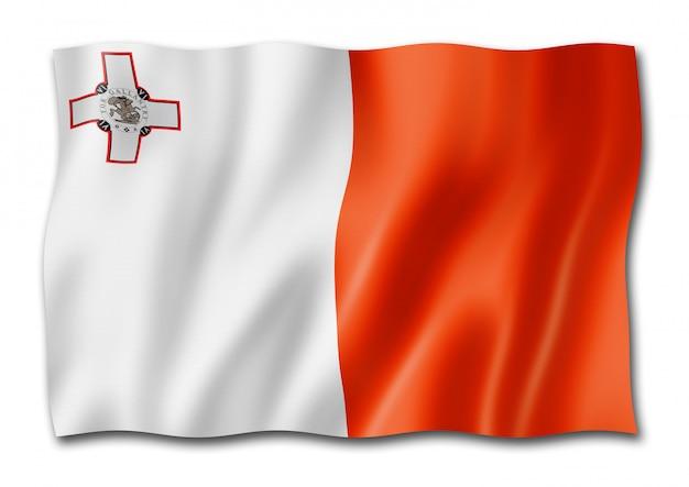 Malta flagge lokalisiert auf weiß