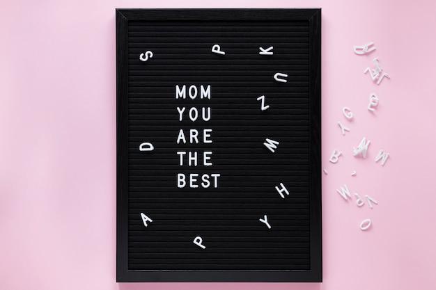 Mama, du bist die beste inschrift an bord
