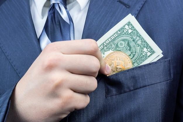 Man dollar und das bitcoin