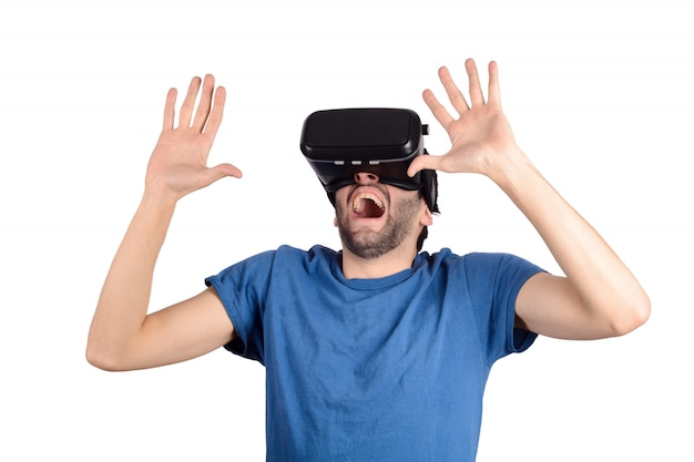 Man erfährt virtuelle realität.