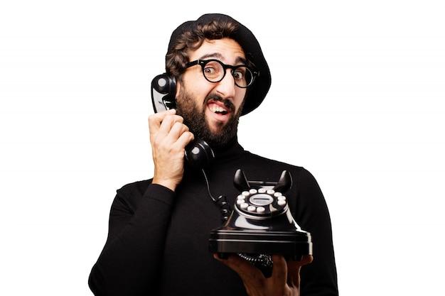 Man spricht am telefon
