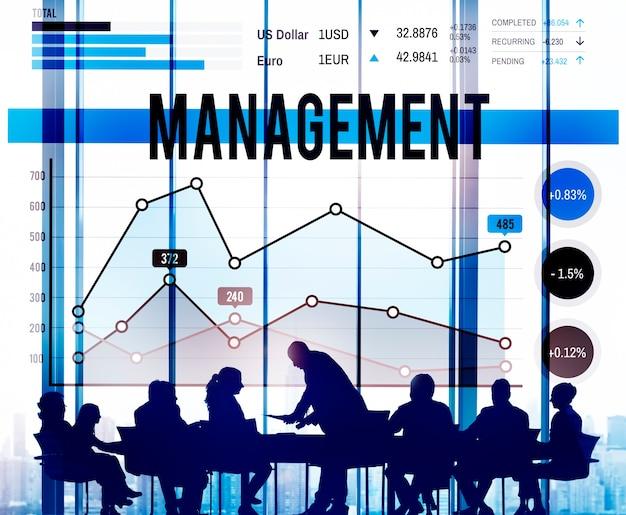 Management-organisations-manager, der konzept behandelt
