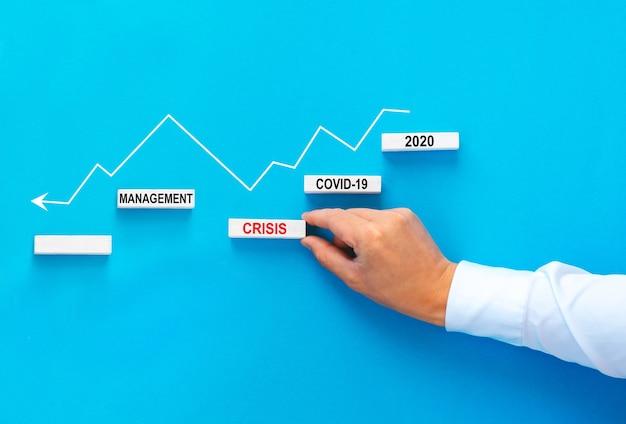 Manager, der das wirtschaftswachstum nach der wirtschaftskrise von 2020 motiviert.