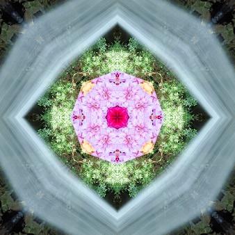 Mandala, kaleidoskop, designmuster-zusammenfassungshintergrund Premium Fotos