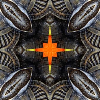 Mandala, kaleidoskop, designmuster-zusammenfassungshintergrund