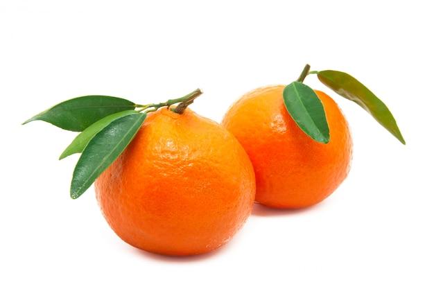 Mandarin isoliert