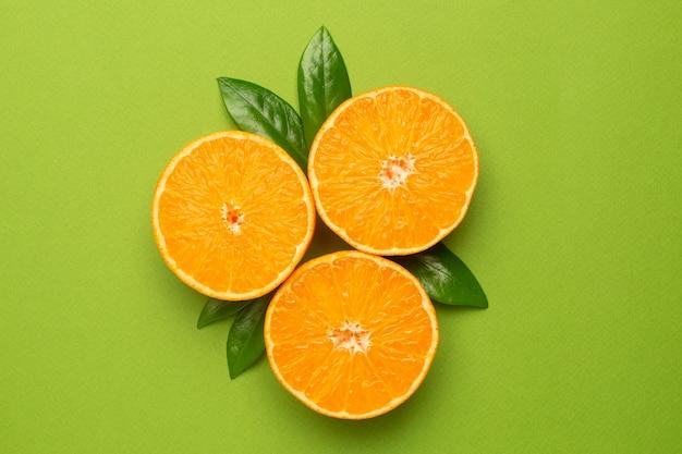 Mandarine, frucht flatlay, sommer minimale zusammensetzung